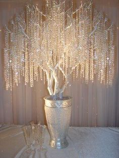Wedding Reception Chic Wedding ICE CRYSTAL GarlandCenterpiece by TheFrenchSecret - Up for your consideration and pleasure.Wedding Crystal Garland Centerpiece Decoration Designer Garland designed exclusively for a STYLISH Tree Wedding, Chic Wedding, Wedding Reception, Wedding Vintage, Sparkle Wedding, Wedding Pillars, Reception Seating, Garland Wedding, Gold Sparkle