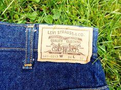 LEVIS Vintage 649 Blue Straight Leg Jeans W34 L32
