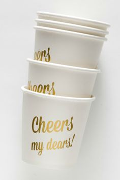 cheers my dears! cups by Sucre Shop | Sucre Shop