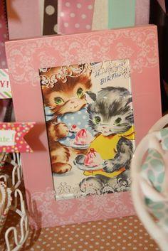 little pumpkin grace: she's five!!!!!!!!!!!!!!!!!!!! {vintage kitten birthday party}
