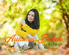 25 Autumn Bokeh Overlays,  Photoshop Overlays, Autumn Overlays, Bokeh Overlays, Lights Overlays, Autumn backdrop, Digital Bokeh Lights