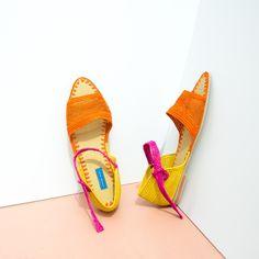 Proud Mary Tropical Strappy Raffia Sandal
