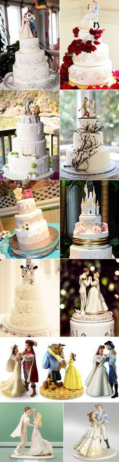 disney wedding cake toppers. I like either the chairs from up or Mickey and Minnie