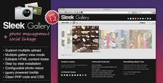 Buy Sleek Gallery by elieli on CodeCanyon. A photo management system that allows you to upload multiple images at once through back end and apply multiple categ. Bulk Image, Something About You, Social Icons, Photo Search, Wedding Album, Colorbox, Php, Management, How To Apply