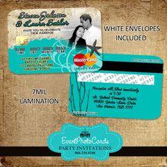 Ocean Seashell Wedding Invitations Very Unique Credit Cards