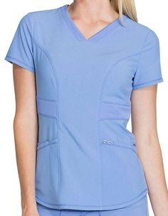 Cherokee Infinity Women's V-Neck Scrub Top Hospital Jobs, Scrubs Uniform, Scrub Tops, Cherokee, Chef Jackets, Infinity, Free Pattern, V Neck, Gowns