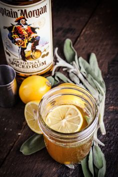 meyer lemon and sage hot toddy