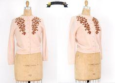 vintage 1950s cardigan  vintage 50s cardigan  by adorevintage, $84.00