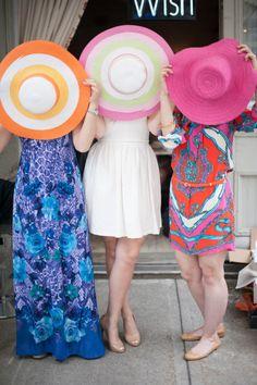 Fun hats: http://www.stylemepretty.com/2015/05/02/kentucky-derby-wedding-details-we-love-2/