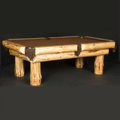 Klondike Log Billiard Table |Rustic Pool Table