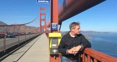 """The Irish Times with Simon Carswell, """"walking the rail"""" with former California Highway Patrol Officer Kevin Briggs. Let's talk OUT LOUD about mental health and getting help. #Listen2Understand"""