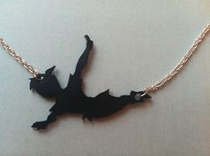 Peter Pan Silhouette Necklace. $13.00, via Etsy.
