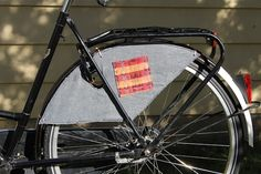 DIY Skirt Guards:   Skirt guards, also known as dress or coat guards, are useful to have on a transportation bicycle. They protect your clothing from getting caught in the spokes and protect you from a resulting wreck. Velouria at Lovely Bicycle! sums up the merits of skirt guards well, and herpost is a good read if you are unsure if skirt guards are for you.
