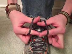 Claire says: Oh my. I can tie my shoes in literally four seconds. After trying to teach a few kids how to tie shoes, I have finally found a good method. Quick Shoe Tie Trick - Demo & Explanation