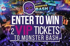 Enter to win VIP tickets to the San Diego Block Parties MonsterBash 2014. #utcontests