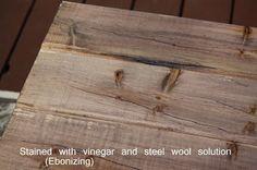 DIY wood stain with vinegar and steel wool