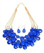 Necklace Sapphire with earrings