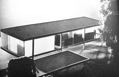 Ludwig Mies van der Rohe (1886-1969)   First Maquette with opaque wall   Edith Farnsworth Residence   Plano, Illinois   Maquette c. 1946, Residence 1946-1951