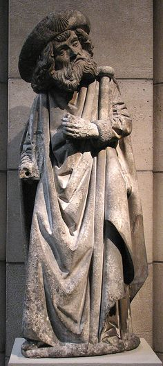 St. James the Greater,  ca. 1475–1500 From Burgundy, France, Limestone, originally with paint