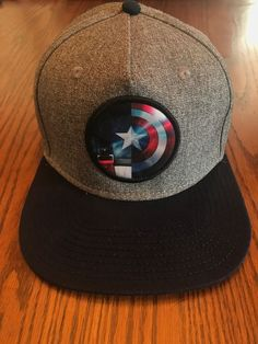 a473be4ade8 Marvel Avengers CAPTAIN AMERICA Hat Flatbill Adjustable Cap ADULT  fashion   clothing  shoes