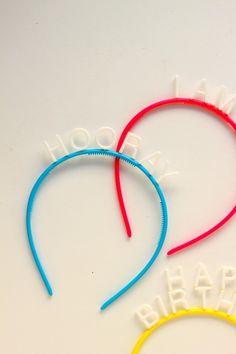 #Birthday bands. #kidsfashion #kidsparties #headbands