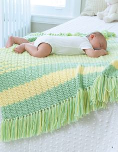 Picture of Tunisian Crochet Baby Blankets (book of patterns available for…