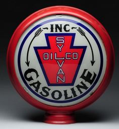 Sylvan Oil Co. Inc. Gasoline gas pump globe