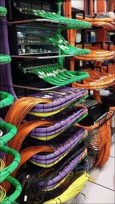 O funcionário de TI que instalou todos esses cabos.