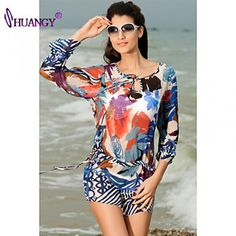 4267c08a4f937 #coverups Buy syu®Women's Padless Bra Floral Straped Cover-Ups swimsuit  (Polyester