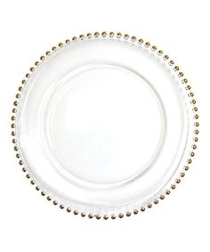 This Gold Bead Glass Couture Charger Plate - Set of Four is perfect! #zulilyfinds