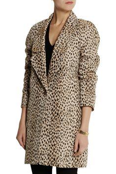 Diane von Furstenberg Britta leopard-jacquard coat