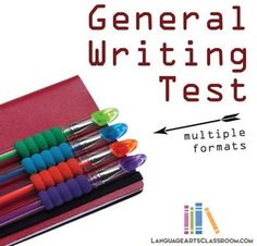 Perfect middle school writing test. It covers basics: sentence structure, synonyms, paragraphs, and topic sentences.