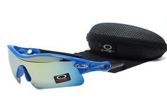 Oakley Radar Range Sunglasses Polished Blue Frame Cyan Lens