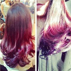 Color Ombre done at Hair Machine RVC