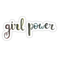 """girl power"" Stickers by cfinkdoescrafts 