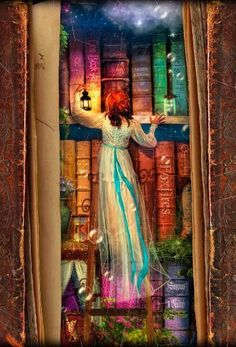 Find The Curious Library Notebook by Aimee Stewart at Blurb Books. The artwork of Aimee Stewart leads you on a journey through an enchanted library full of whims. Reading Art, World Of Books, Book Nooks, Library Books, I Love Books, Oeuvre D'art, Book Lovers, Dragons, Fantasy Art
