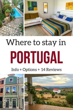 Portugal Accommodations - where to stay in Portugal itinerary - Portugal Travel #portugaltravel