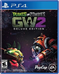 Plants vs. Zombies Garden Warfare 2 Deluxe Edition PS4 Physical Game Disc US