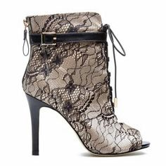 Lace satin bootie from shoe dazzle.com