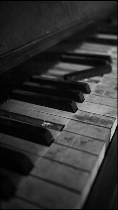 The beauty of the vintage piano.
