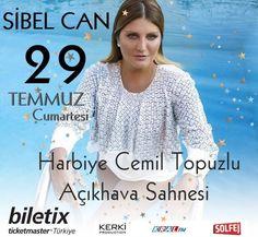 29 Temmuz Cumartesi Harbiye Cemil Topuzlu Açıkhava Sahnesi / İstanbul Biletler @biletix 'te : https://goo.gl/00HJVA