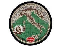 Il formaggio Bel Paese Galbani col ritratto dell'abate Stoppani stampato sulla carta che lo ricopriva ^^