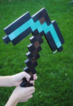 DIY Minecraft Pickaxe DIY Cardboard DIY Crafts