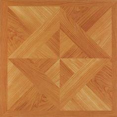 """Park Avenue Oak Diamond Parquet 12"""" x 12"""" Adhesive Vinyl Floor Tile - 20 Tiles"""