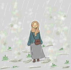 Hijab Drawing, Islamic Cartoon, Anime Muslim, Hijab Cartoon, Cute Cartoon Girl, Cartoon Quotes, Kawaii Chibi, Feminist Art, Love Illustration