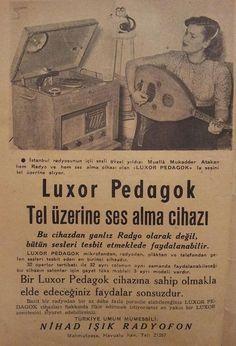 Tel üzerine ses kaydetme cihazı: Luxor Pedagok #birzamanlar #eskireklamlar #LuxorPedagok #istanbul #istanlook