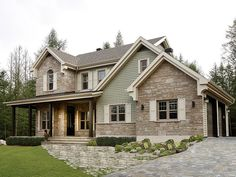 Country House Plan, 027H-0339. Love the exterior. 2 stories, attached garage, 1800sq ft...I love how simple this is!!