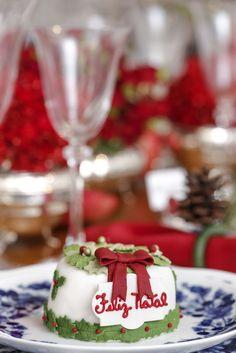 Bolinho natalino Pati Piva em nossa mesa de Natal