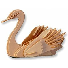3-D Wooden Puzzle - Small Swan -Affordable Gift for your Little One! Item #DCHI-WPZ-M034