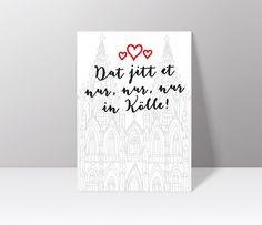 Postkarten - Postkarte // Köln // Kölner Dom - ein Designerstück von Veedelswerk bei DaWanda. #köln #kölnerdom #print #cologne #dawanda #herz #liebe #stadt #rhein #city #A4 #Veedelswerk #liebedeinestadt #dom #karneval #alaaf #wanderlust #travel #postcard #Postkarte